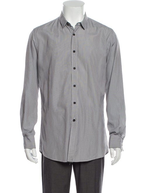 Duckie Brown Striped Long Sleeve Dress Shirt Brown