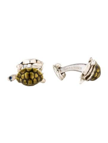Deakin & Francis Sapphire & Enamel Walking Tortoise Cufflinks None