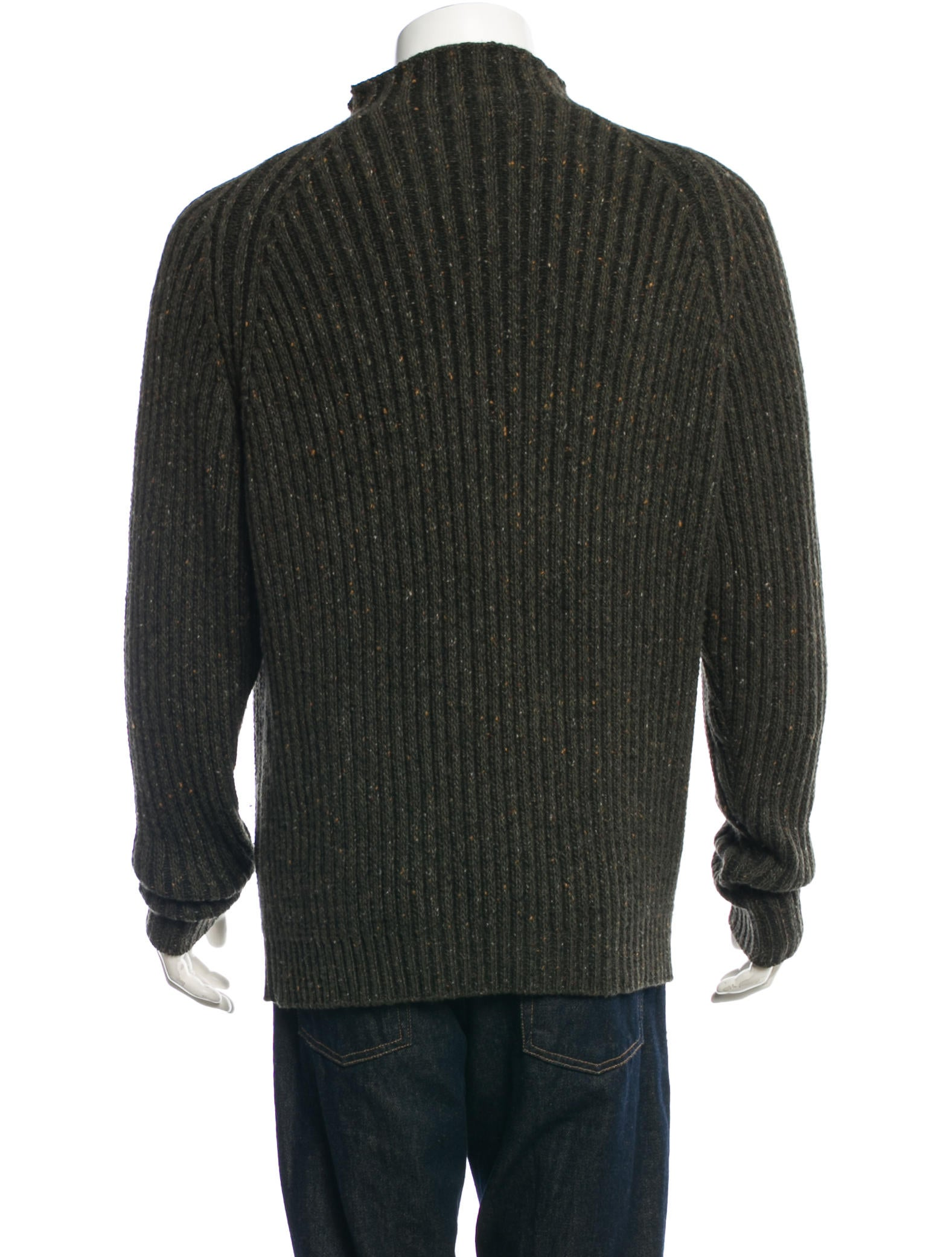 Wool Sweater Grey: Dunhill Cashmere Wool Sweater - Clothing - DLL20205
