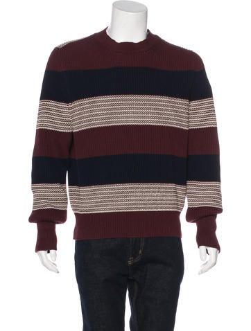 Dunhill Striped Rib Knit Sweater None
