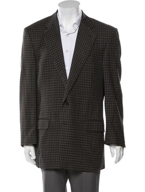 Dunhill Wool Plaid Print Blazer Wool