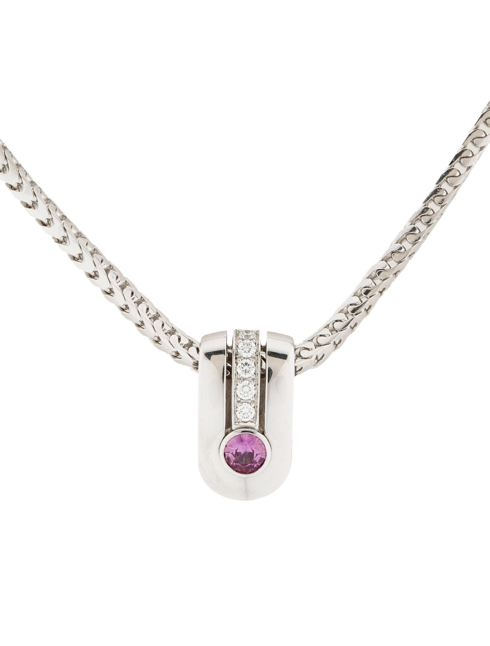 Di Modolo Pink Sapphire and Diamond Necklace Necklaces