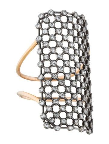 Diane Kordas 18K Diamond Mesh Ring