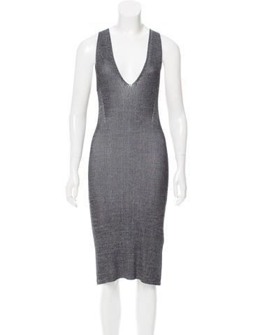 Dion Lee Rib Knit Sheath Dress None