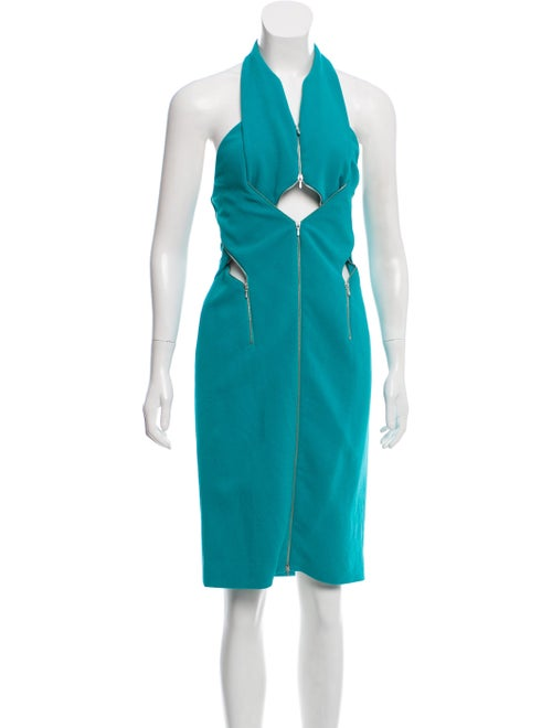 Dion Lee Halter Midi Dress Turquoise