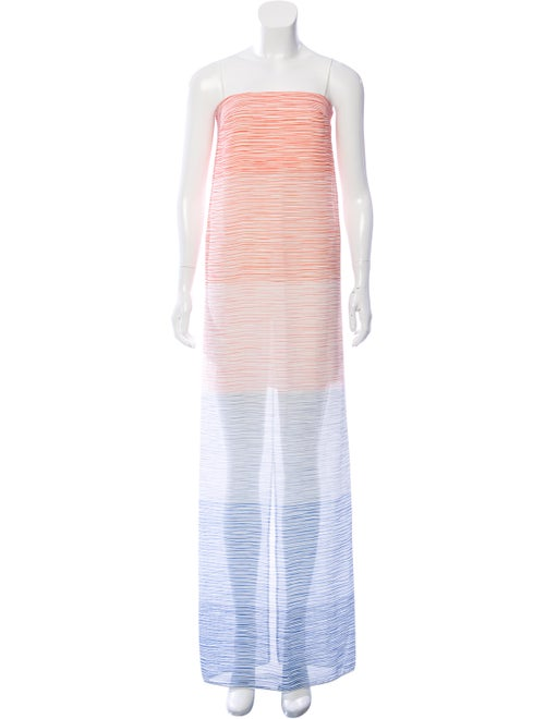 Dion Lee Sleeveless Maxi Dress Blue