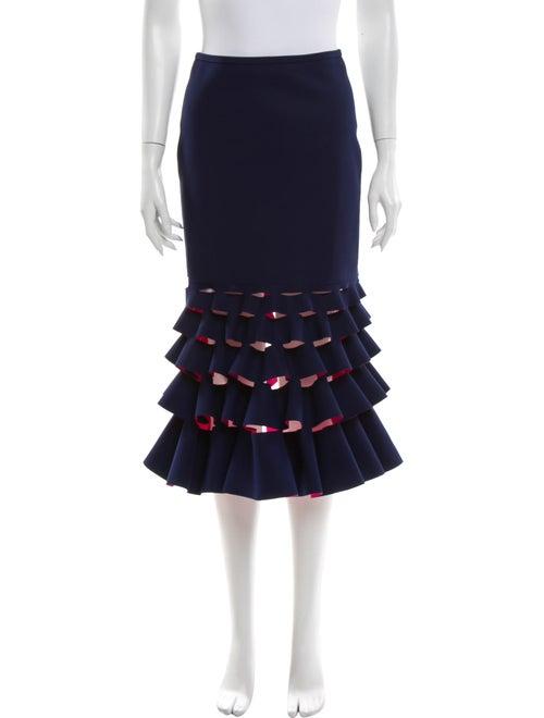 Dion Lee Midi Length Skirt Blue
