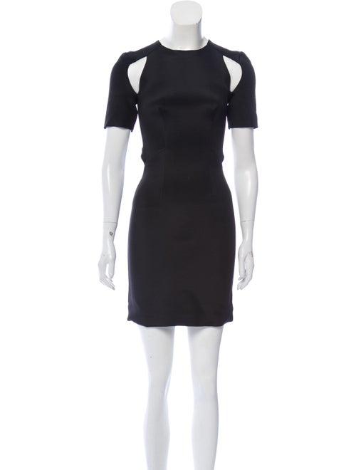 Dion Lee Silk Mini Dress Black