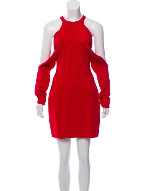 Dion Lee Knit Cold-Shoulder Dress