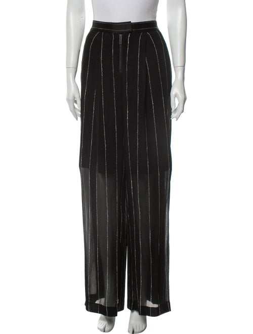 Dion Lee Striped Wide Leg Pants Black