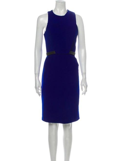 Dion Lee Crew Neck Knee-Length Dress Blue