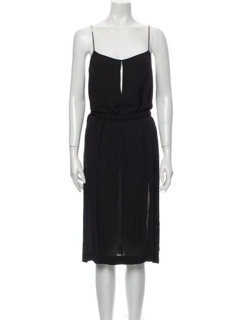 Dion Lee Silk Midi Length Dress Black