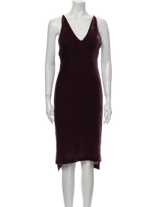 Dion Lee V-Neck Knee-Length Dress Purple