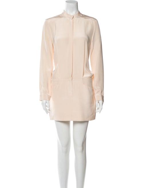 Dion Lee Silk Mini Dress Pink