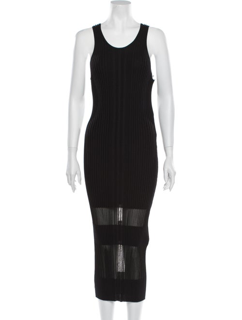 Dion Lee Striped Midi Length Dress w/ Tags Black