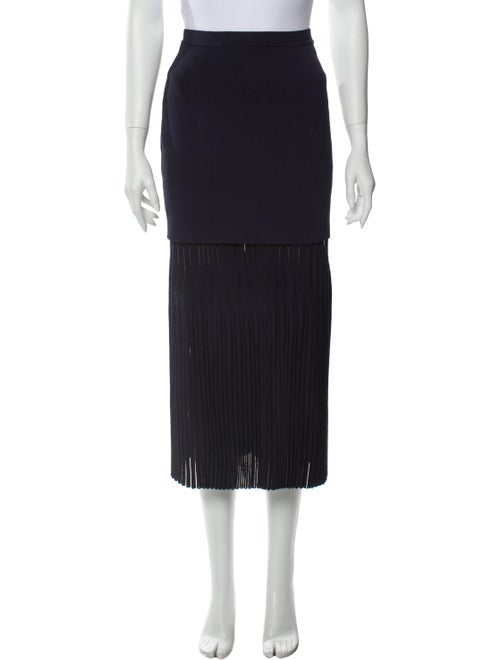 Dion Lee Pleated Accents Midi Length Skirt Blue