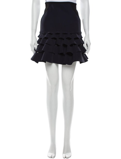 Dion Lee Ruffle Embellishment Mini Skirt Blue