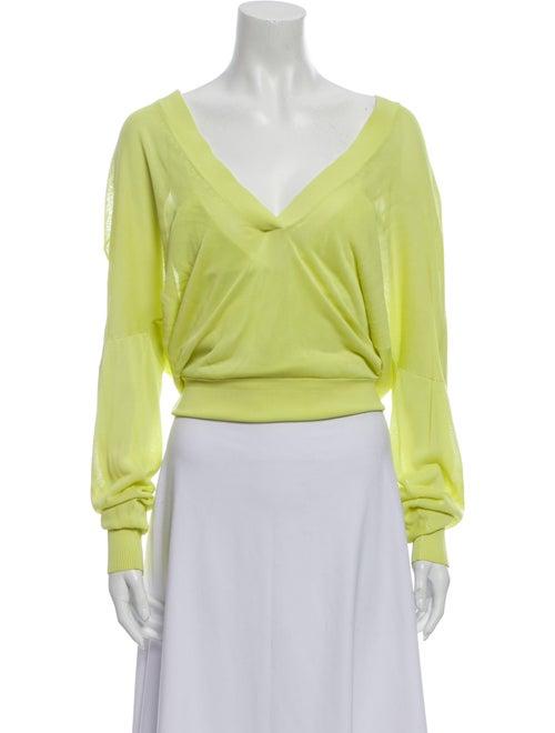 Dion Lee Plunge Neckline Sweater Yellow