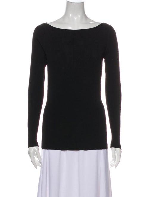 Dion Lee Bateau Neckline Sweater Black