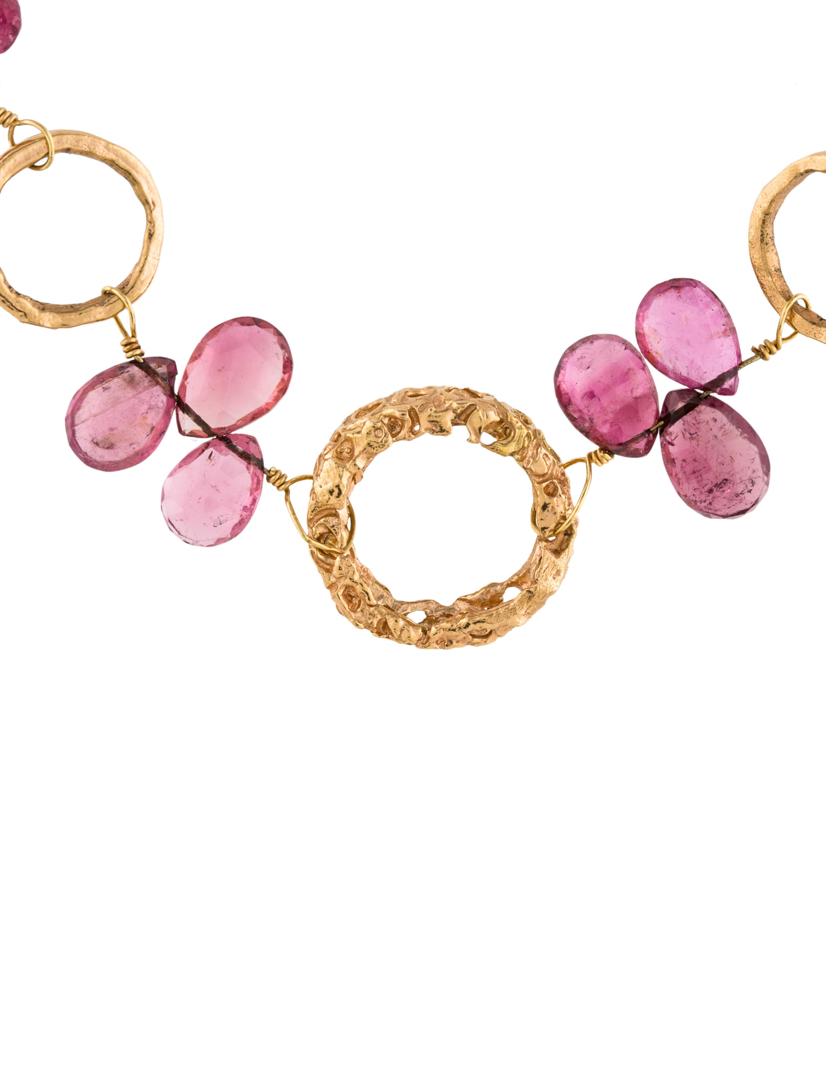 dominique cohen 18k pink tourmaline chain necklace. Black Bedroom Furniture Sets. Home Design Ideas