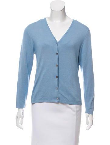 Domenico Vacca Cashmere & Silk-Blend Button-Up Cardigan None