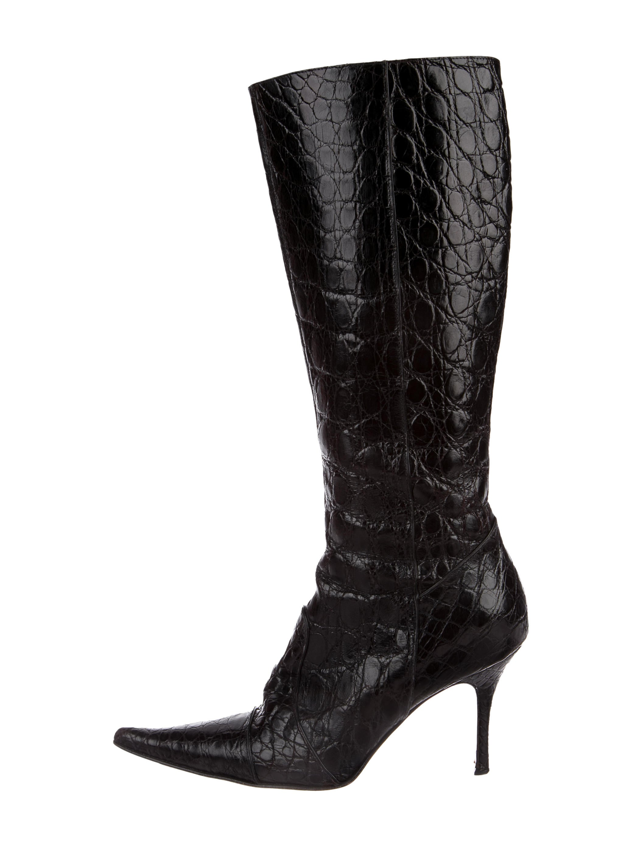 best seller buy cheap official Domenico Vacca Alligator Knee-High Boots Manchester release dates online KAaHido