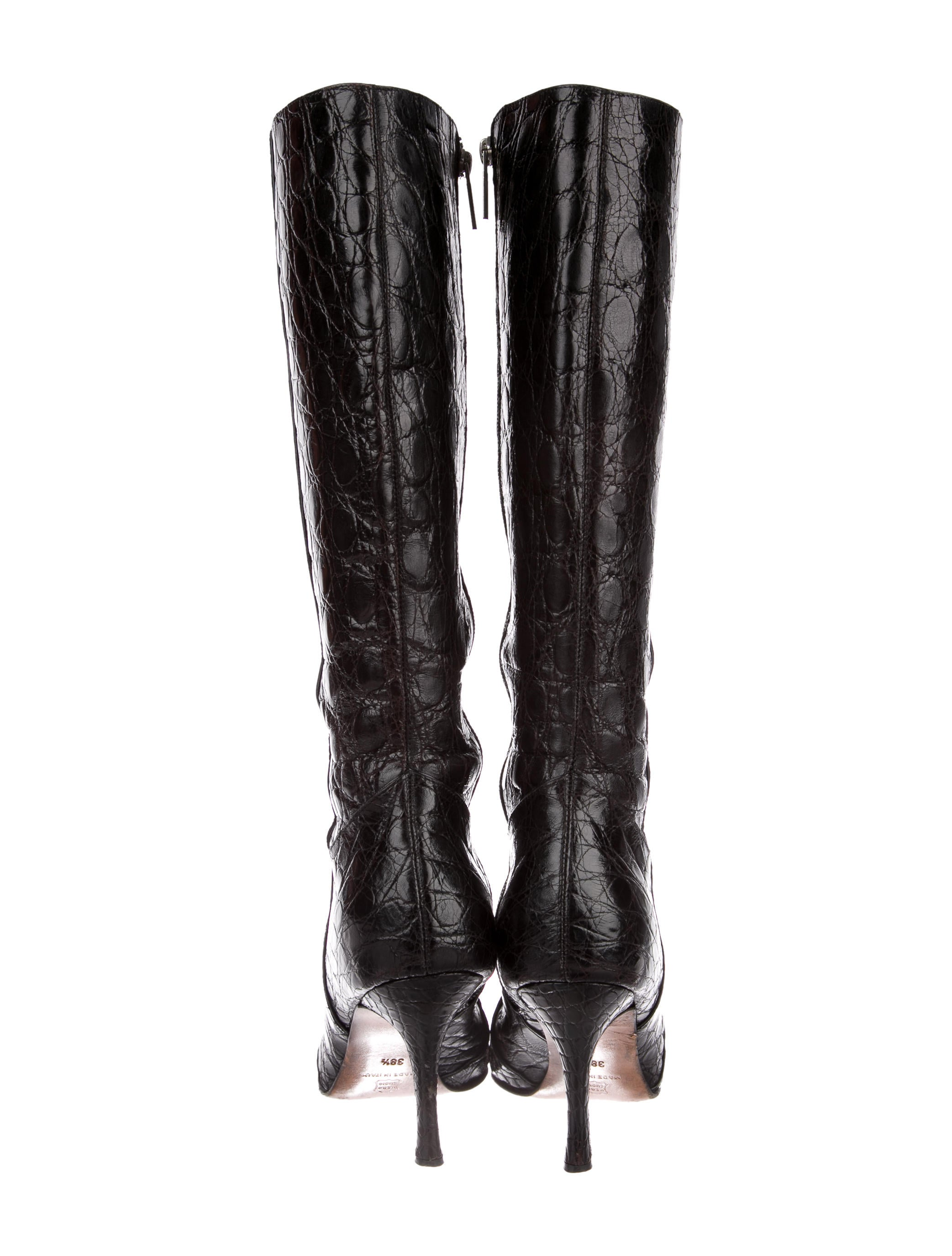 Domenico Vacca Alligator Knee-High Boots