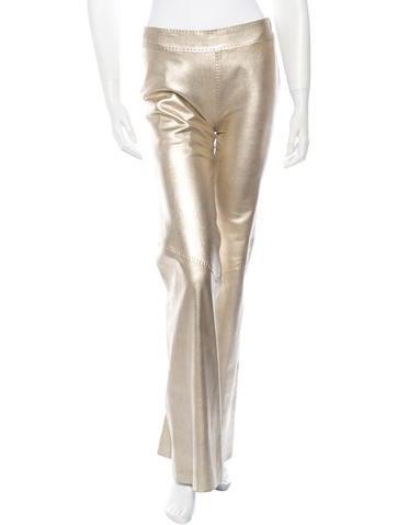 Metallic Leather Pants
