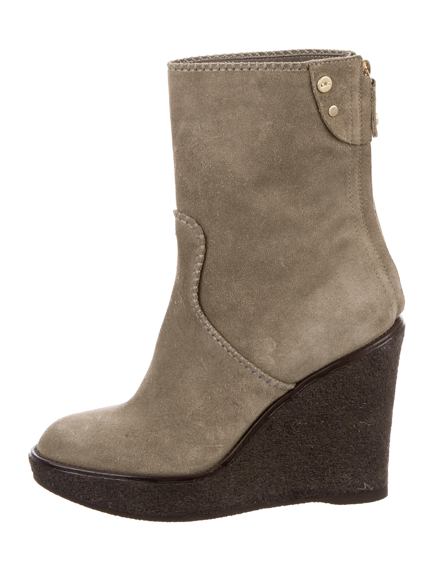 donna karan suede wedge ankle boots shoes don21272