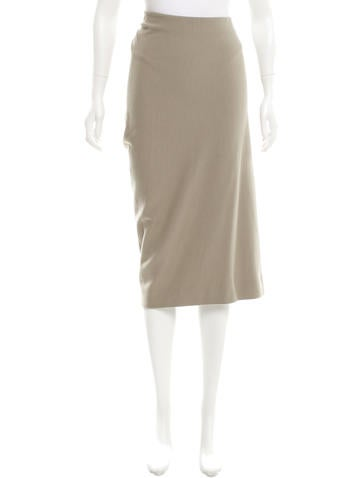 Donna Karan Wool Asymmetrical Skirt