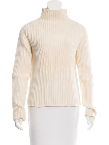 Donna Karan Wool Turtleneck Top None