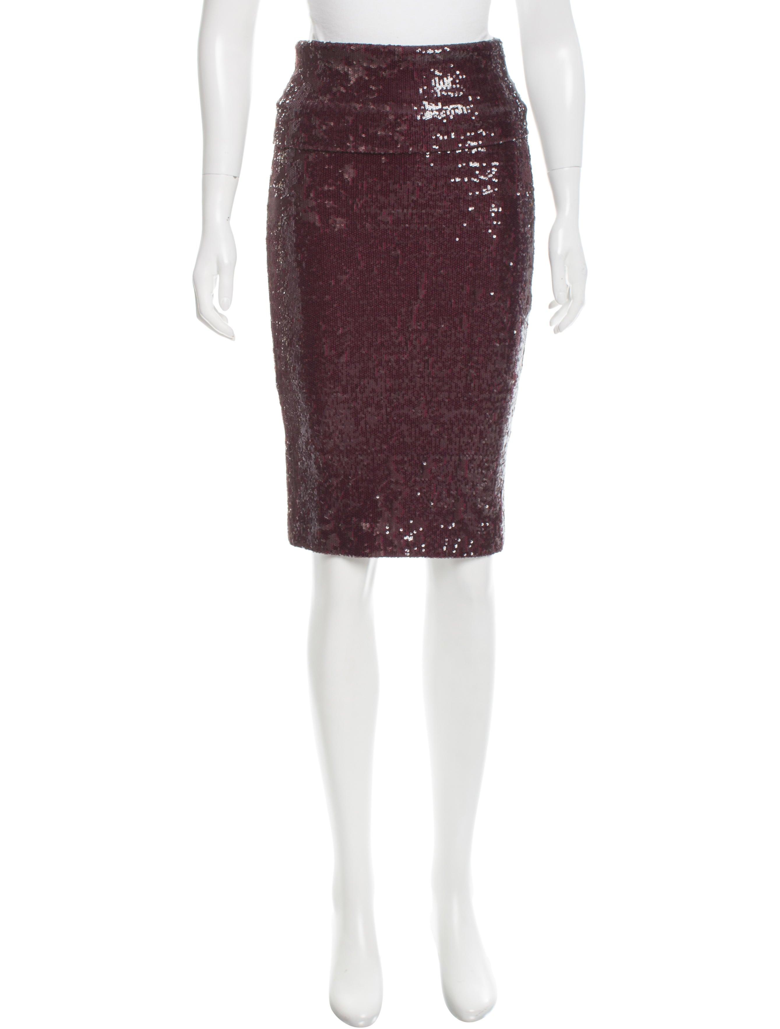donna karan sequin knee length skirt w tags clothing