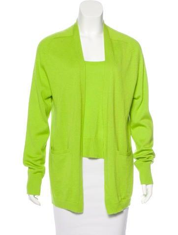 Donna Karan Cashmere & Silk-Blend Cardigan Set None