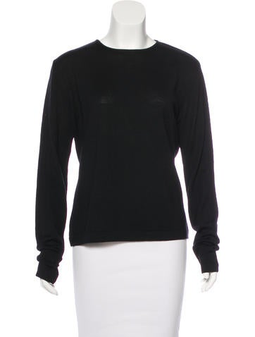 Donna Karan Wool Knit Sweater None