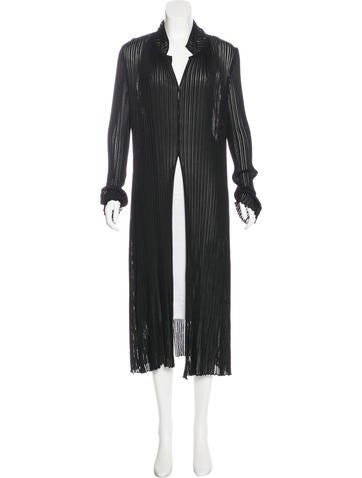 Donna Karan Longline Knit Cardigan None