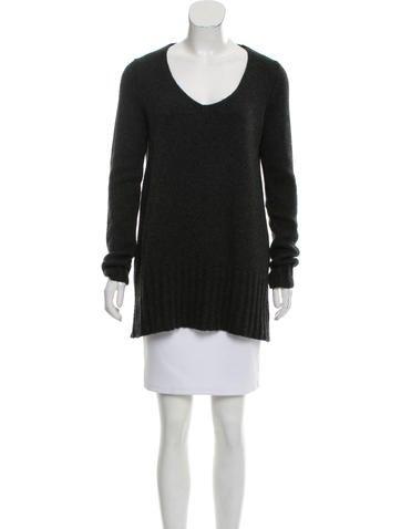 Donna Karan Cashmere Rib Knit Sweater None