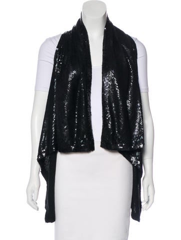 Donna Karan Sequined Cashmere Vest w/ Tags None