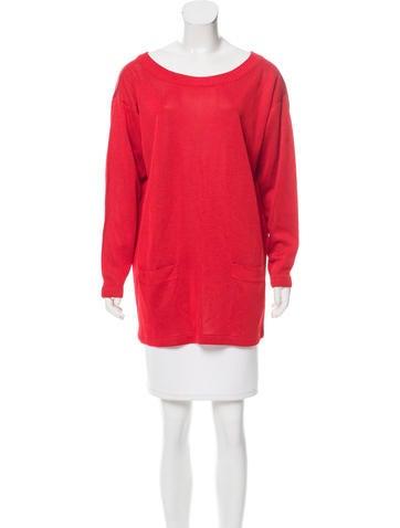Donna Karan Rib Knit Lightweight Sweater None