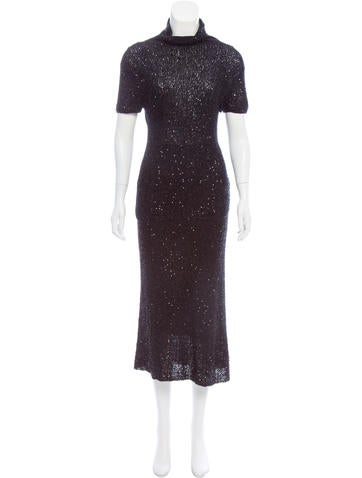 cf04a11ff546 Donna Karan Sequined Cashmere Skirt Set - Clothing - DON22728   The ...