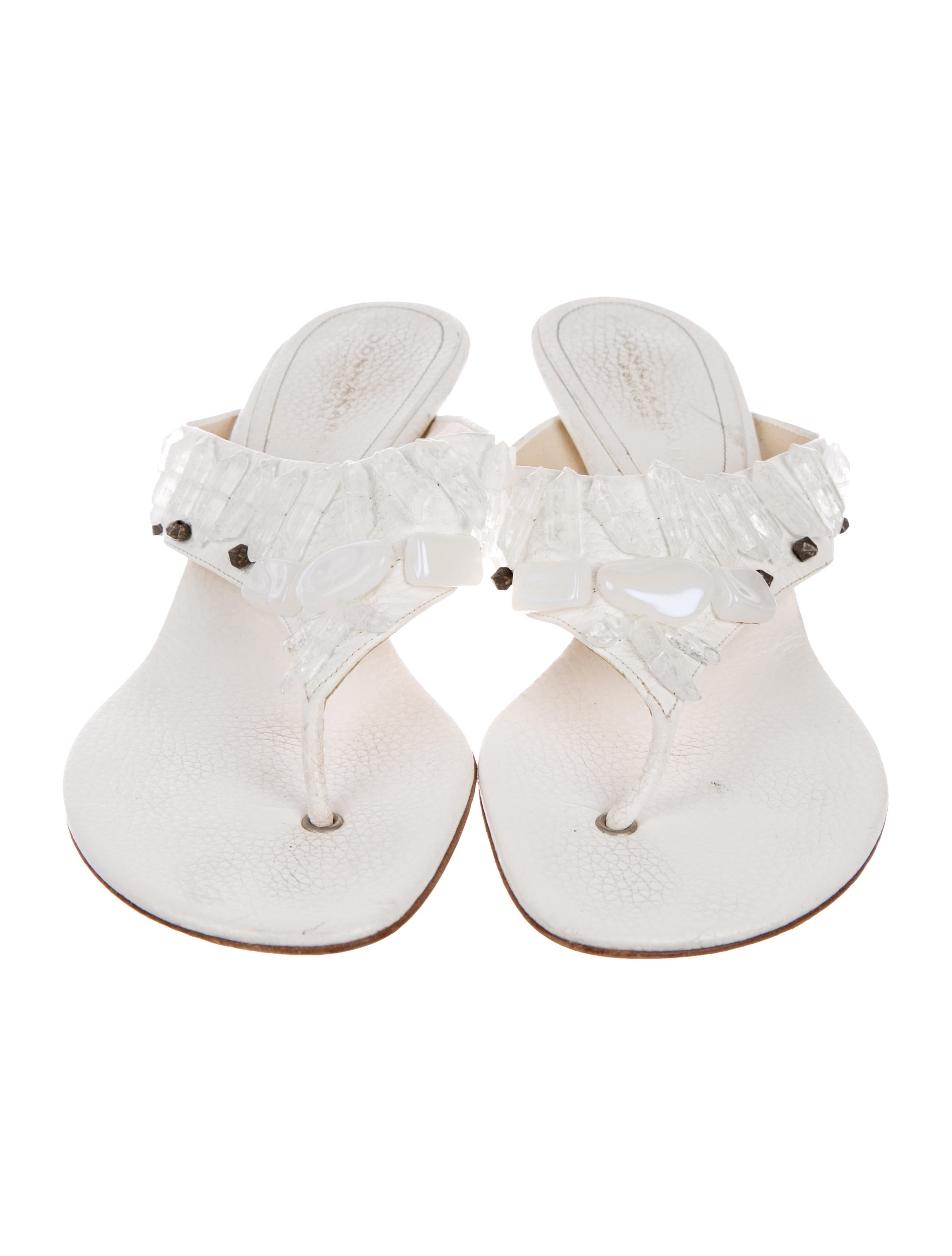 Donna Karan Crystal Slide Sandals cheap best prices factory outlet discount outlet wcphf3RO