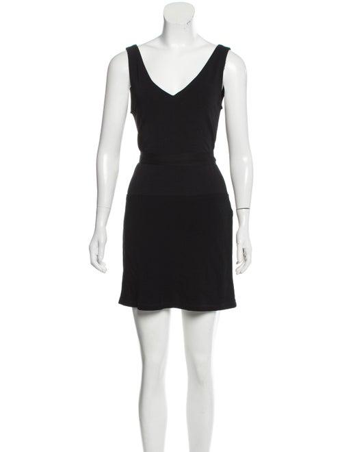 Donna Karan Sleeveless Mini Dress Black