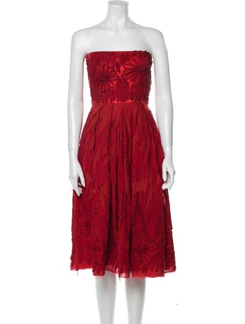 Donna Karan Silk Mini Dress Red