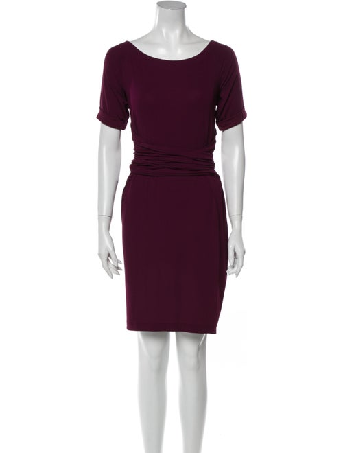 Donna Karan Vintage Mini Dress Purple