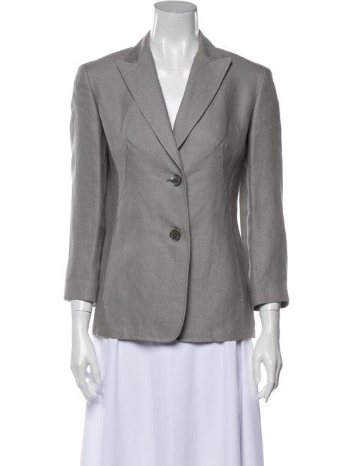 Donna Karan Linen Blazer Grey