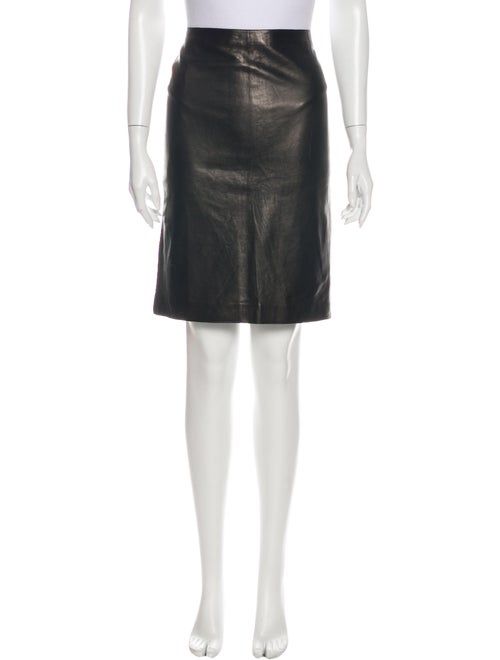 Donna Karan Knee-Length Skirt Brown