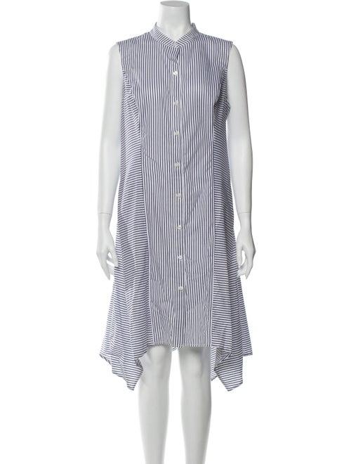 Donna Karan Striped Knee-Length Dress w/ Tags Whit