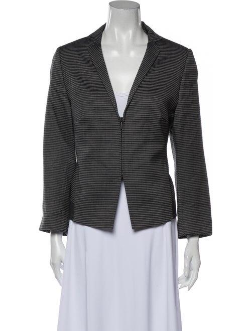Donna Karan Cashmere Striped Sweater Grey