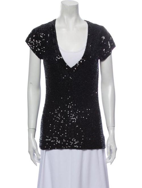 Donna Karan Cashmere V-Neck Sweater Black