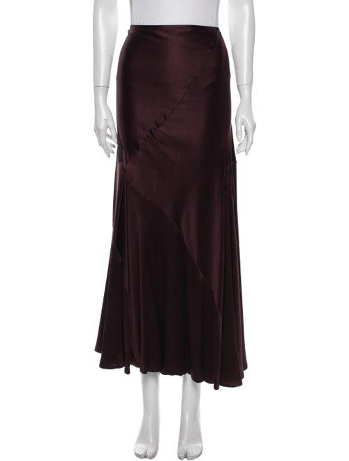 Donna Karan Silk Long Skirt Purple