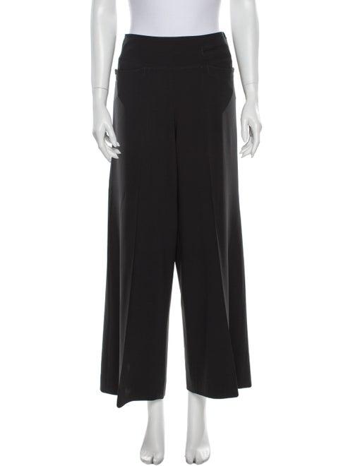 Donna Karan Wool Wide Leg Pants Wool